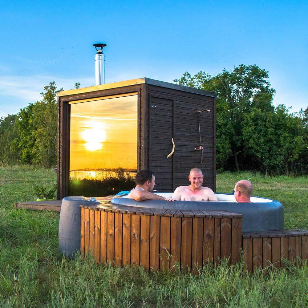 sauna ciubar de exterior